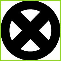 X men logo Superheldsymbole Superheld Logo Vorlagen Vielfraß tattoo X Men