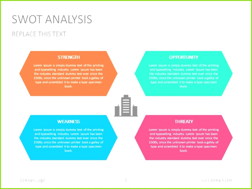 Swot Template for Powerpoint Business assessment Template Ppt 0d