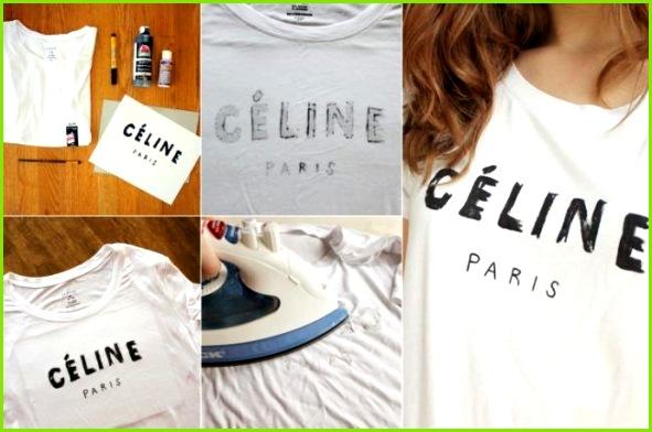 t shirt selbst bemalen textilfarbe anleitung schrift celine