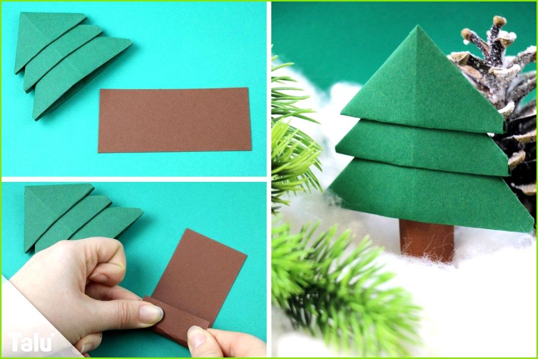tannenbaum basteln aus papier anleitung und ideen