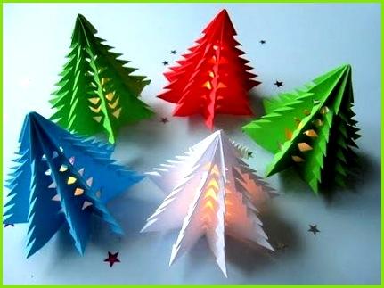3D Weihnachtsbaum aus Papier in 3 Minuten falten DIY Papier