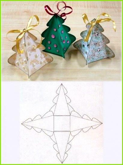 Pappschachtel Geschenkverpackung Weihnachtsbaum Tannenbaum