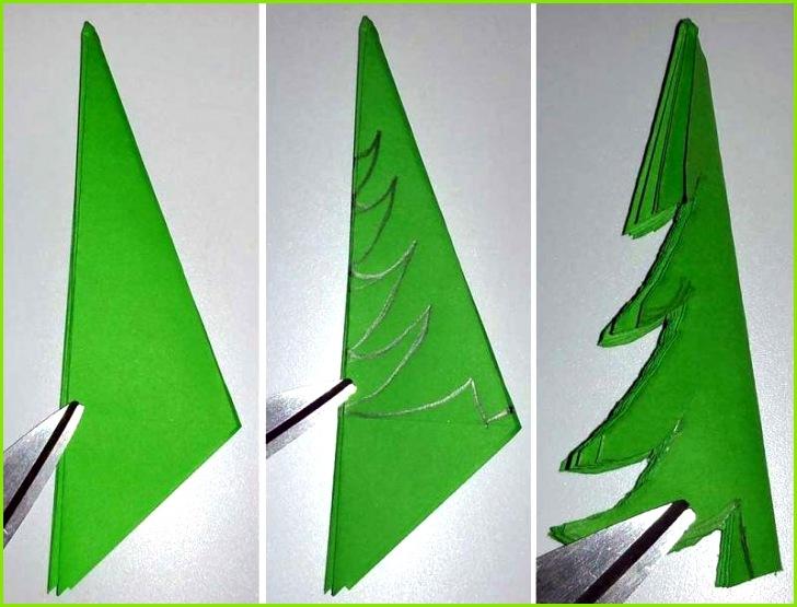 stepbystep d tannenbaum aus papier selber basteln schritt