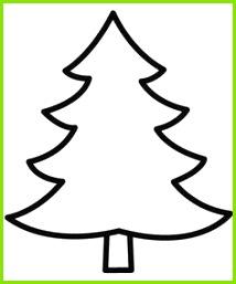 gabarit de sapin de No l Malvorlage Tannenbaum Weihnachtsbaum Schablone Tannenbaum Vorlage Baum Basteln