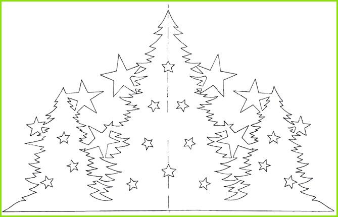 scherenschnitt weihnachtsbäume vorlage ausdrucken kostenlos bastelideen christmascards