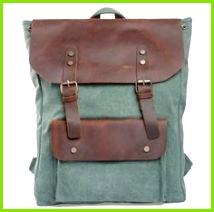 Genuine leather backpack canvas backpack Leather Briefcase leather Messenger bag Laptop bag Men s leather canvas Bag · sean vintage handmade bags