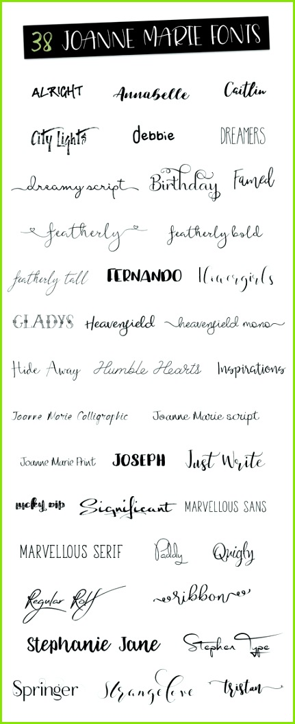 100 Logos including 38 fonts by Joanne Marie on creativemarket