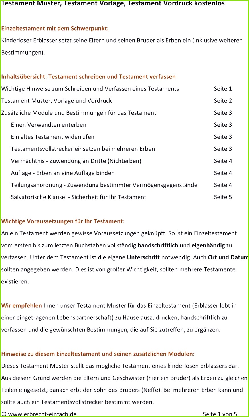 Berliner Testament Muster Kostenlos twowaves