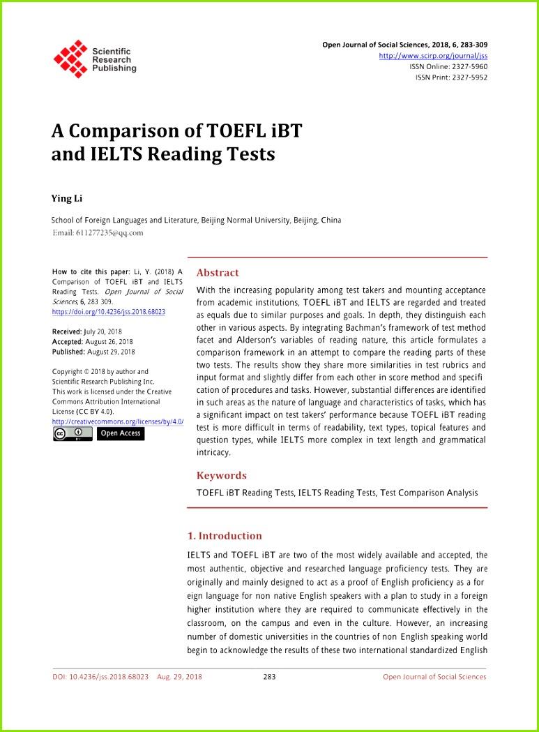 PDF TOEFL 2000 reading framework A working paper