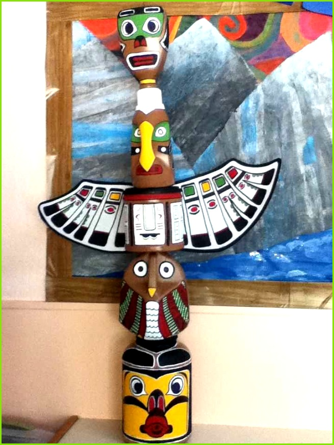 Totem Pole Made From Recycled Jugs Inspired by Bc Aboriginal Scheme From totem Pole Template