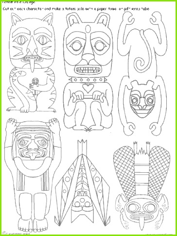 We ve been learning about the art of totem poles carved by the people of The Haida Nation The Haida are an indigenous nation of the Pacific Northwest Coast