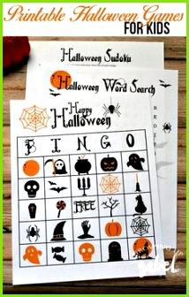 Kostenlose druckbare Spiele machen Spaß Halloween Aktivitäten für Kinder EIN