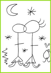 desenhos colorir joane miro ile ilgili görsel sonucu