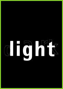 Light Dark · Visuelle Poesie · Visual poetry · Pictowords · Semantic Typography · Barbara Baumann & Gerd Baumann