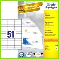 Avery Zweckform 3420 Universal Etiketten 70 x 16 9 mm 100 Blatt