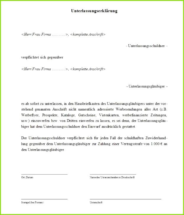 Die Muster Unterlassungserklärung liegt im Word Format vor