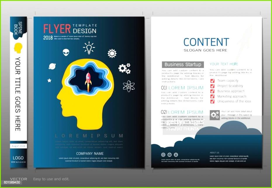 Cover Buch Design Vorlage Vektor Start Geschäftskonzept Verwendung für Broschüre Geschäftsbericht Flyer
