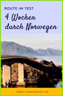 Route im Test 4 Wochen durch Norwegen