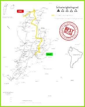 Rundreise Kolumbien Transmagdalena Reiseroute