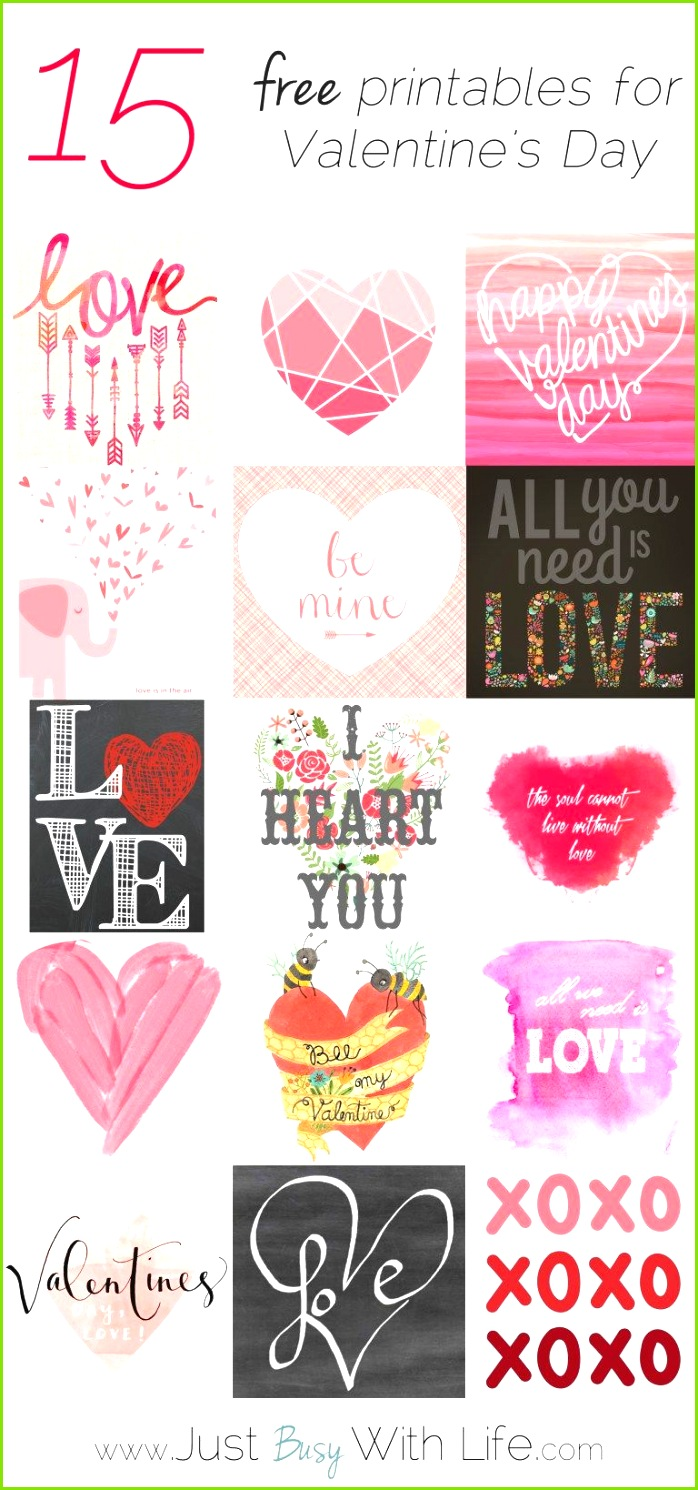 Getting into Valentines doesn t take a lot of effort Here s a over 10 FREE Valentine printables for home décor and sweet cards for those people you love