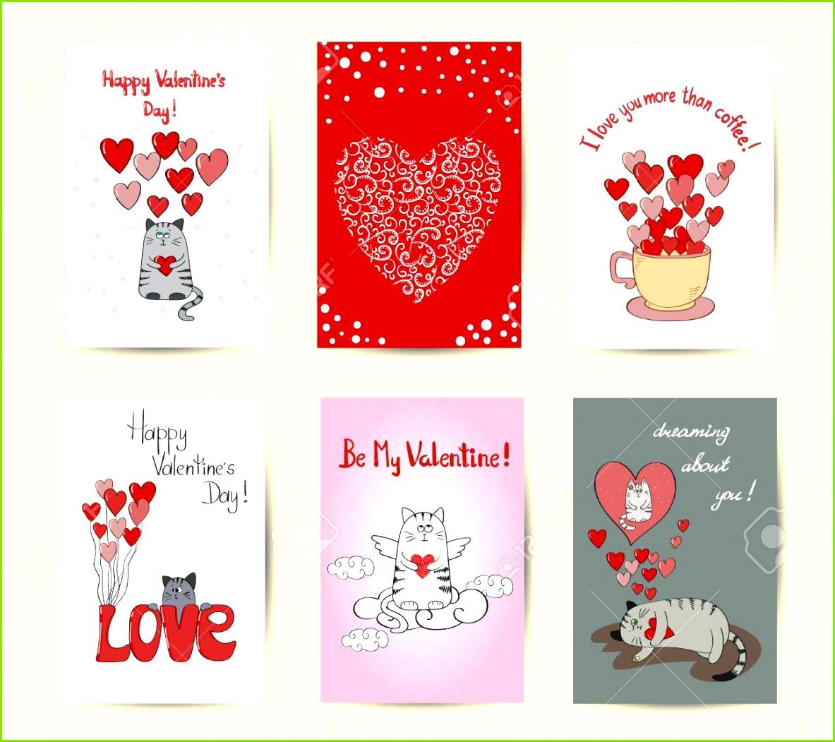 Valentines Vorlagen Set romantische Hintergründe Nette Katzen in der Liebe Standard Bild