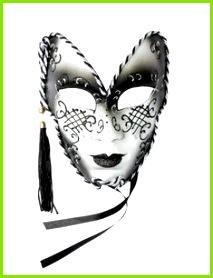 Venezianische Maske Theatermaske Glitter Karneval schwarz