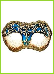 Colombina stucco craquele blu Venezianische Maske