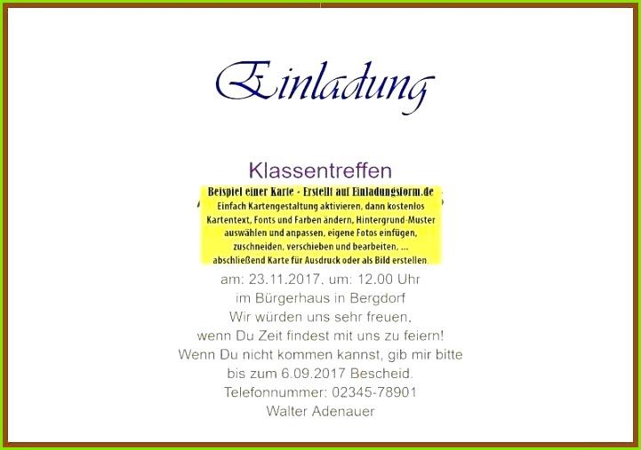 Witzige Einladung Klassentreffen Vorlage Einladung Klassentreffen Word Schön Vorlage Einladung