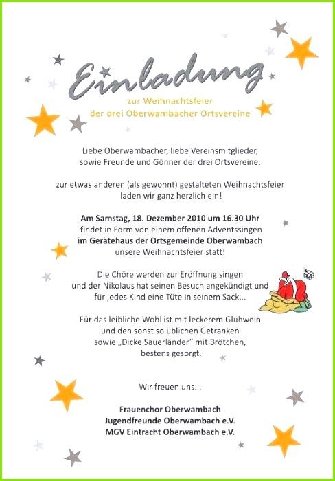 Vorlage Einladung Weihnachtsfeier Word Inspirierend Einladung Weihnachtsfeier Vorlage Text Oder Muster