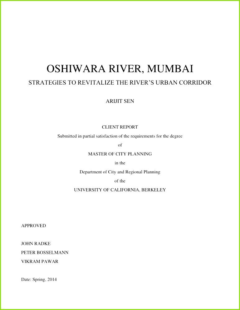 PDF OSHIWARA RIVER MUMBAI STRATEGIES TO REVITALIZE THE RIVER S URBAN CORRIDOR