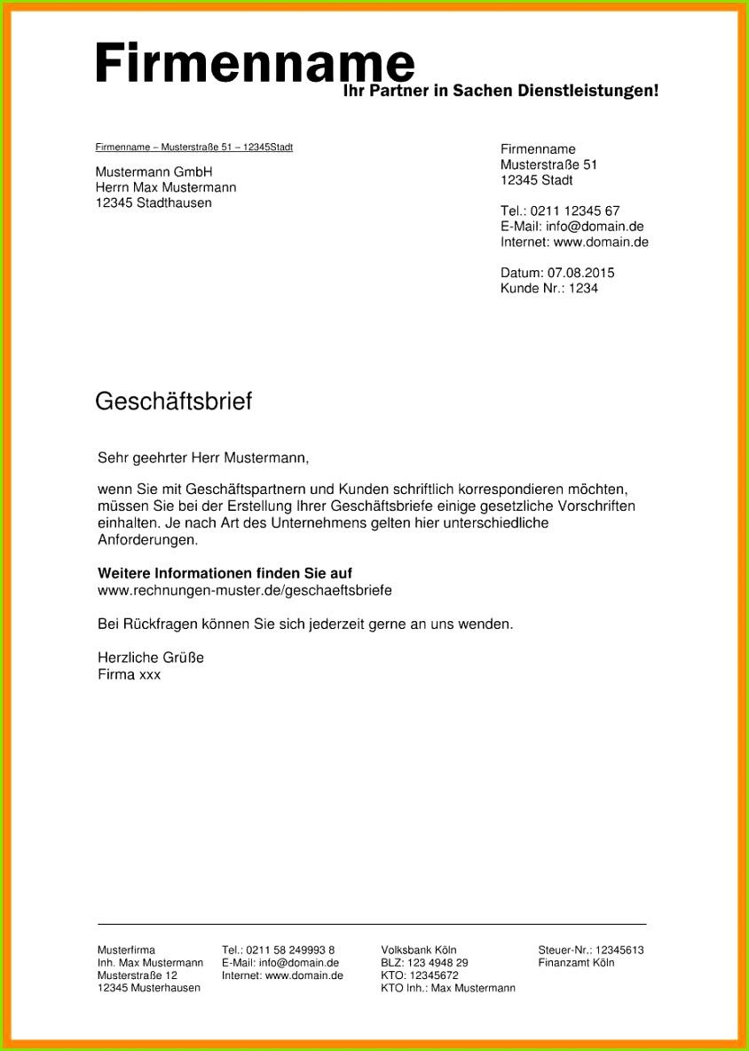 Geschaftsbrief Vorlage Angebot Grosartig Geschaftsbrief Muster Der Geschaftsbrief Vorlage Angebot