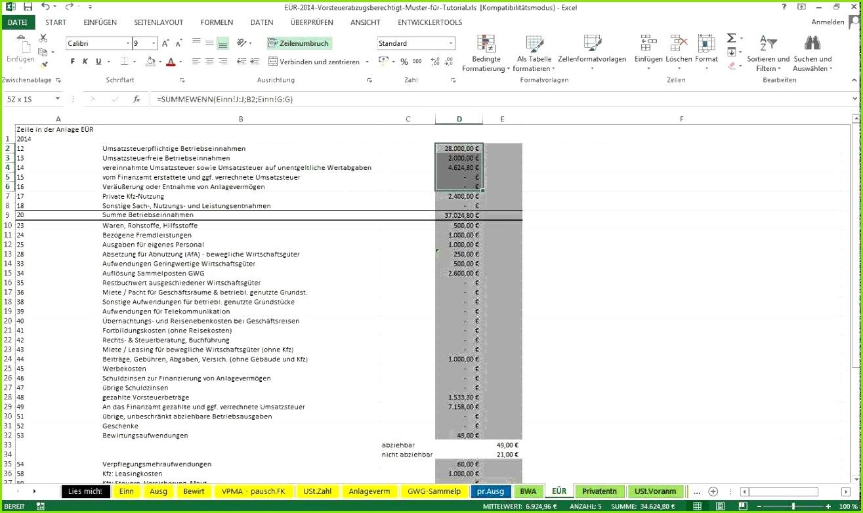Einnahmen Ausgaben Excel Vorlage Kleinunternehmer Editierbar Gewinn Und Verlustrechnung Kleinunternehmer Vorlage Schön Einnahmen