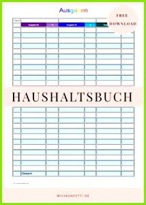 Ein Haushaltsbuch hilft beim Sparen Printable