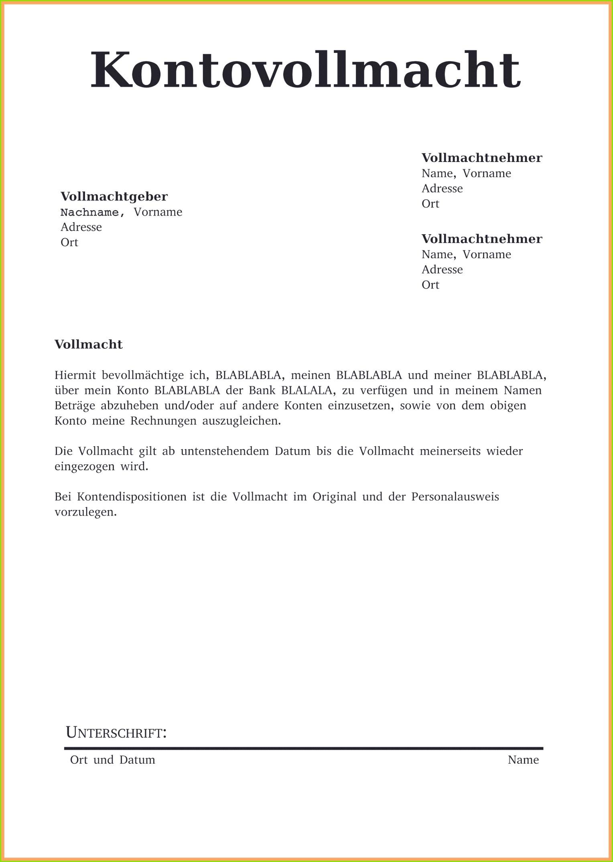 Vollmacht Vorlage Word Luxus Vollmacht Post Muster
