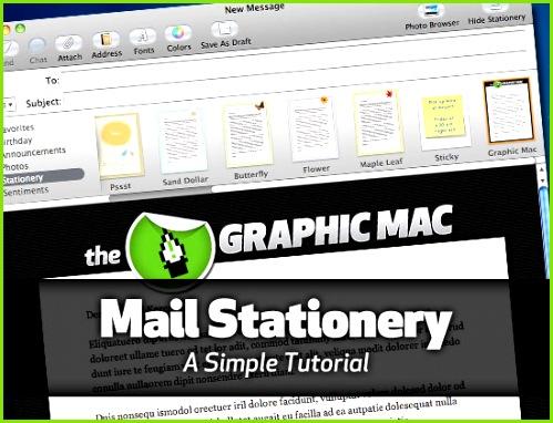 Mac OS X Mail Stationery