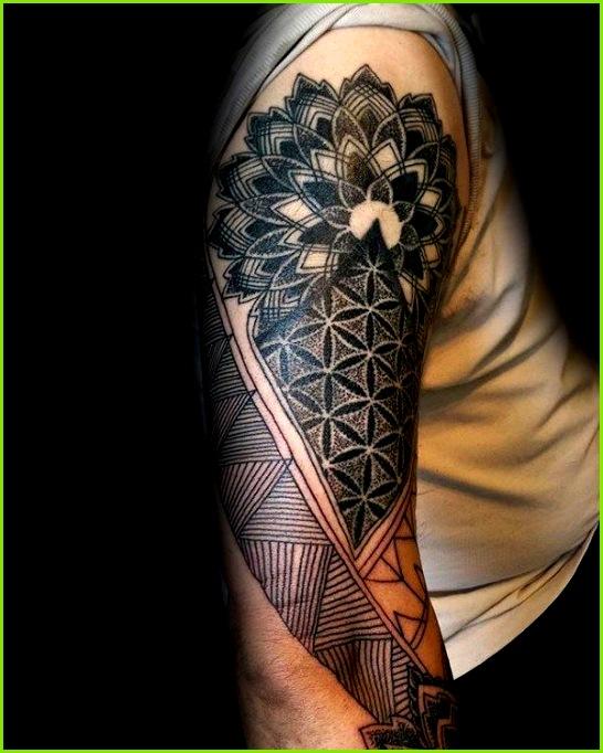100 Blume des Lebens Tattoo Designs für Männer geometrische Tinte Ideen blume designs geometrische lebens tattoo tinte