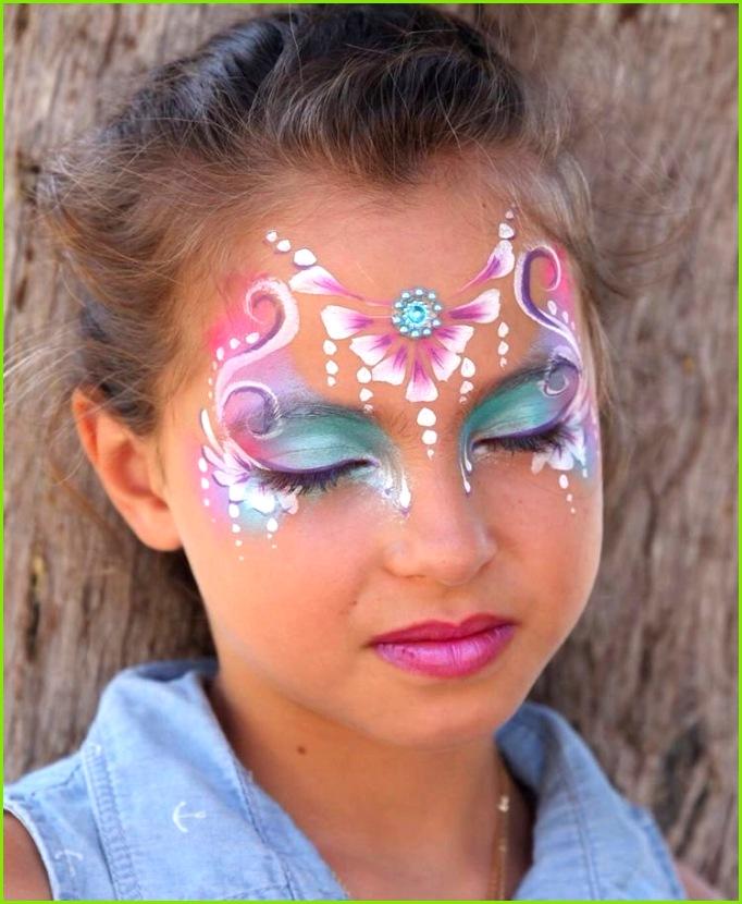 prinzessin schminken blumen blüten rosa fasching makeup princess