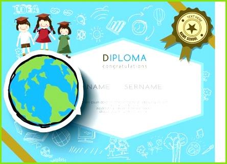 Kinder Diplom Vorschule Zertifikat Grundschule Design