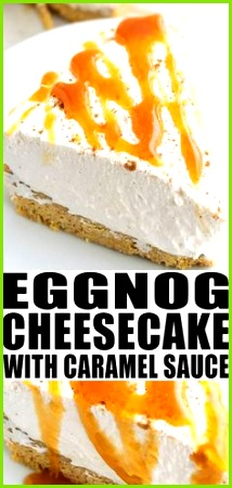 EGGNOG CHEESECAKE RECIPE Quick easy no bake with graham cracker crust and simple ingre nts