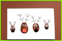 Bastelideen für Kinder schöne Weihnachtskarten für Familie