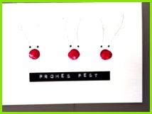 Weihnachtskarten selber machen einfach schnell mit Fingerabdrücken und mit Wow Effekt Super