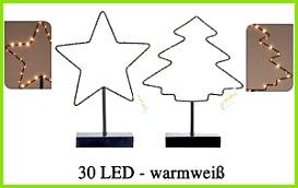 Das Bild wird geladen Beleuchteter Stern od Weihnachtsbaum 30 LED Fensterdeko Weihnachtsbeleuchtung