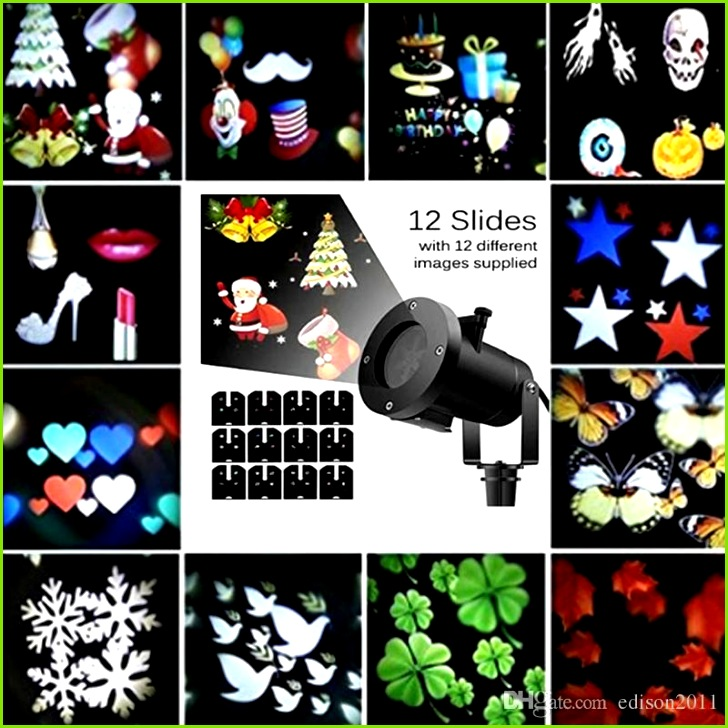Edison2011 Decoration Laser Ligh 12 Pattern LED Projector Light Outdoor Waterproof Landscape Lamp Christmas Light for Holiday Party