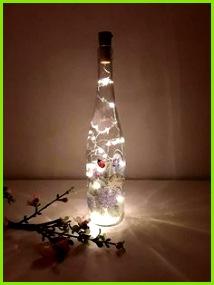 Dekorierte Flaschen Flaschen Dekorieren Weinflaschen Billige Wohnkultur Lichterkette Sehen Selber