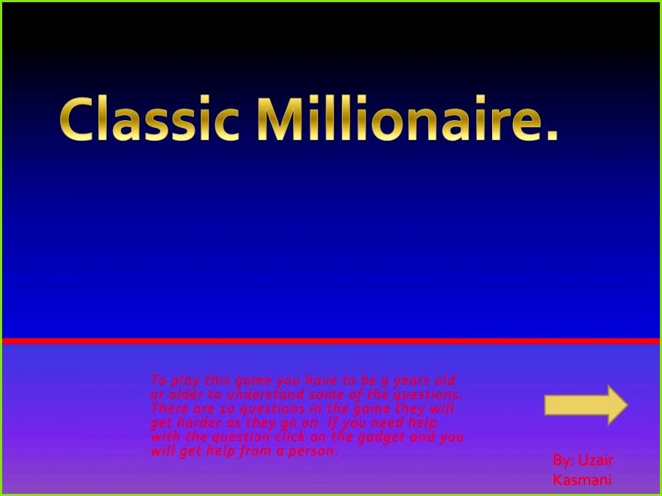 Classic Millionaire PowerPoint PPT Presentation