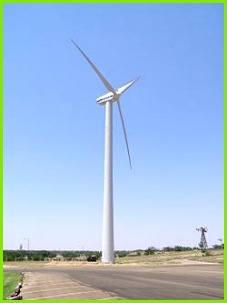 Vestas V47 660kW wind turbine at the American Wind Power Center in Lubbock Texas
