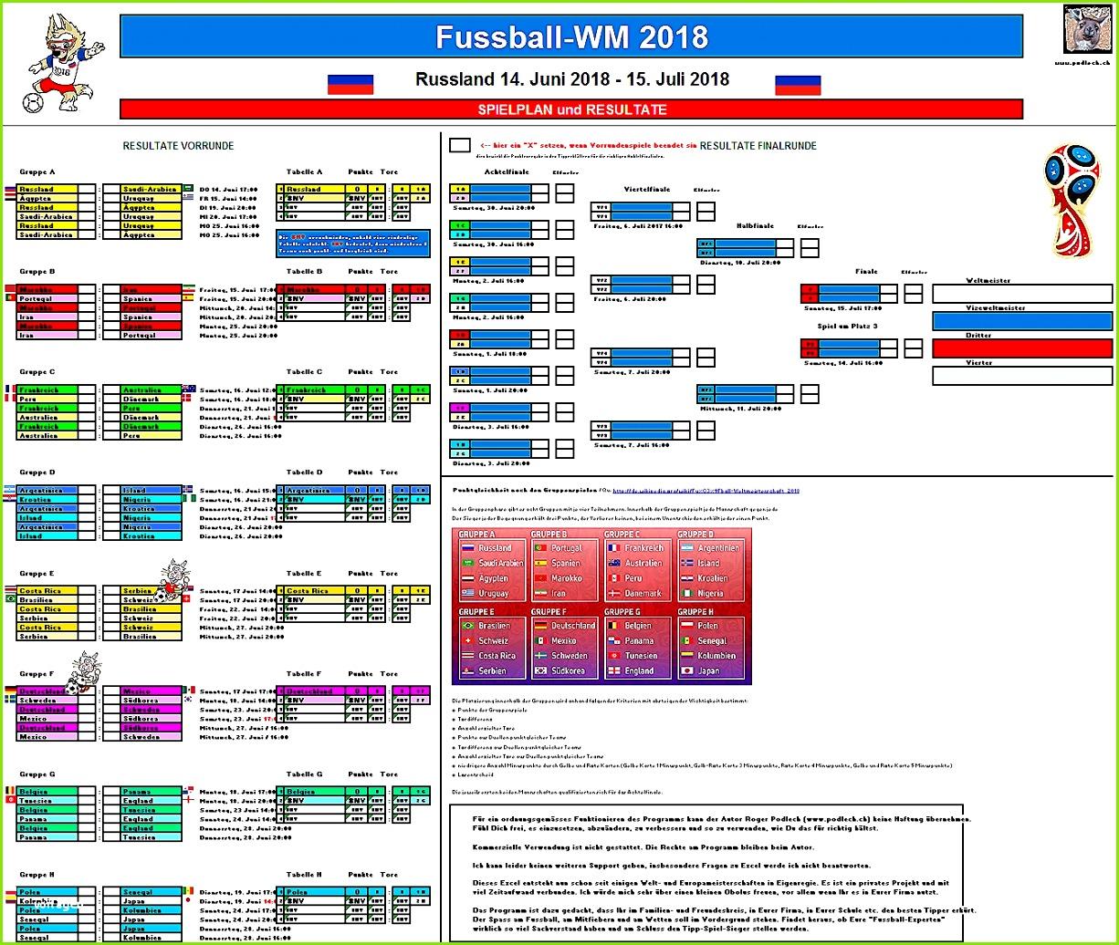 Wm 2018 Tippspiel Excel Vorlage Angenehme Fussball Tippspiel Euro 2016