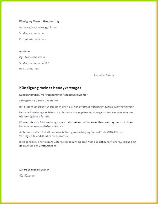 Mietvertrag Kündigung Muster Word Idee Kündigung Vorlage Pdf