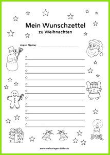 Wunschzettel zum Ausdrucken kostenlose Vorlage Weihnachten Basteln Vorlagen Adventszeit Weihnachtszeit Adventskalender