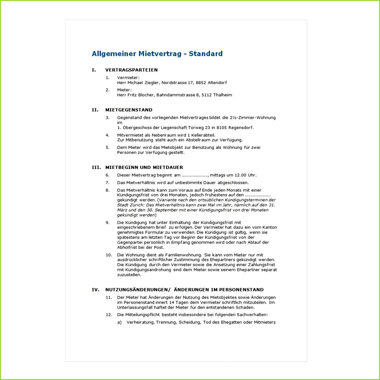 Ausgezeichnet Mieter Vertrag Vorlage Kostenlos Zeitgenössisch